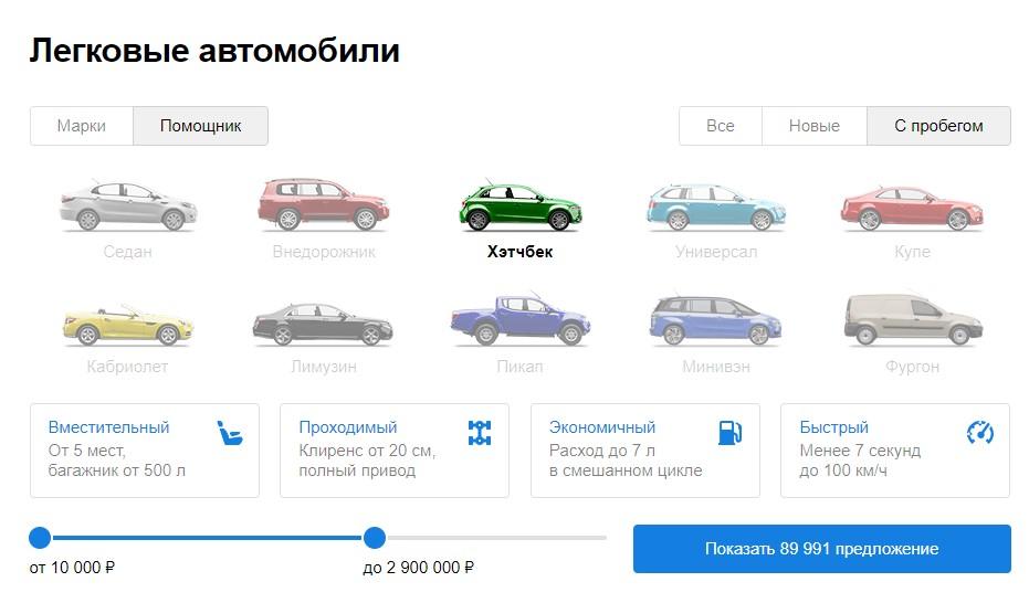 Как купить автомобиль на auto.ru?
